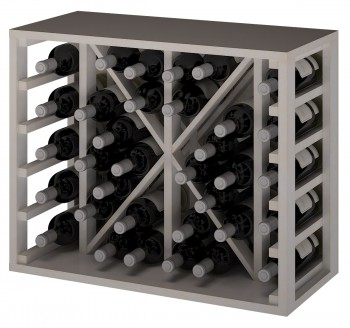 Expovinalia EW2531 botellero pino color blanco, 34 botellas, serie godello,