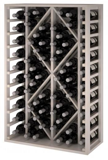 Expovinalia EW2530 botellero pino color blanco, 68 botellas, serie godello,