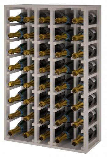 Expovinalia EW2062 botellero madera pino, 40 botellas champagne, color blanco