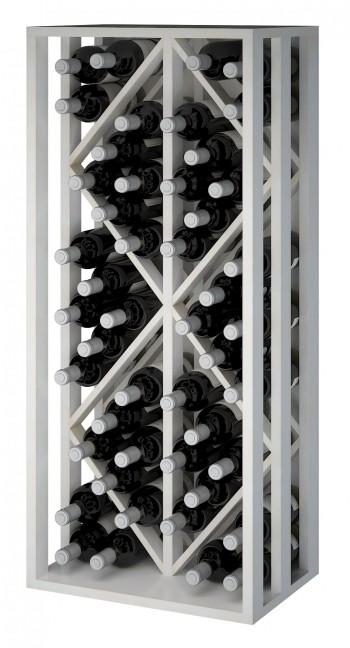 Expovinalia EW2532 botellero pino color blanco, 48 botellas, serie godello,