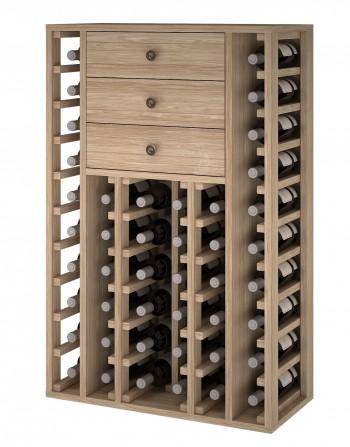 Expovinalia ER2510 botellero madera roble, 46 botellas, serie godello