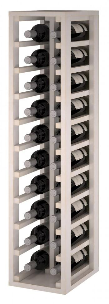 Expovinalia EW2032 botellero pino color blanco, 20 botellas, serie godello