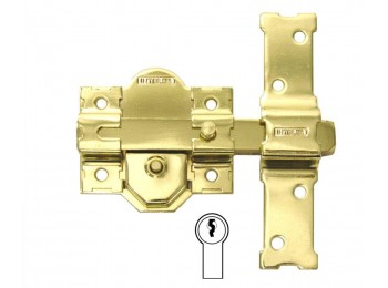 Cerrojo sobr. 86mm 31 dorado dor bombillo 50mm cadena reten.