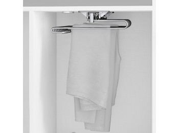 Emuca Pantalonero extraible para armario, 470 mm, 11 varillas, Acero, Cromado