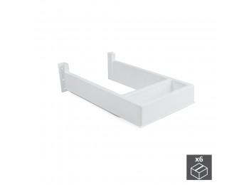 Emuca Salva sifón para cajón de baño, rectangular, Plástico, Blanco, 6 ud.