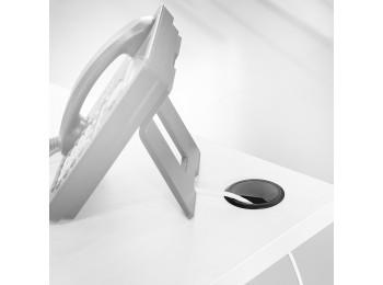 Emuca Tapa pasacables circular, D. 80 mm, para encastrar, Plástico, Gris, 4 ud.