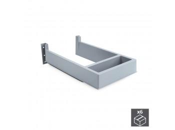 Emuca Salva sifón para cajón de baño, rectangular, Plástico, Gris, 6 ud.