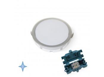 Emuca Foco LED, D. 85 mm, para empotrar, Luz blanca fría, Plástico, Gris metalizado