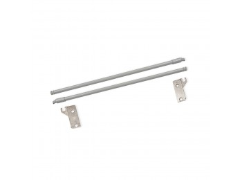 Emuca Juego Barandillas para cajón Ultrabox, D. 10 mm, Prof. 350 mm, Acero, Gris metalizado