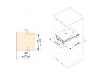 Emuca tabla de planchar plegable para mueble, extraíble, montaje sobre balda, acero y madera.