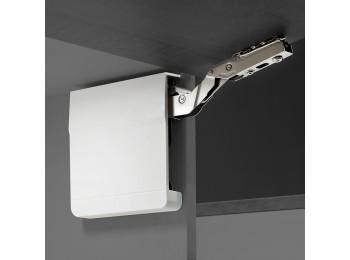 Emuca Compás para puertas elevables, fuerza 3200-9000, Acero y Plástico, Blanco
