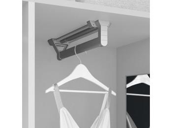 Emuca Colgador extraible para armario, 350 mm, Aluminio y plástico, Anodizado mate
