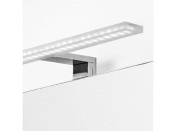 Emuca Aplique LED para espejo de baño, 450 mm, IP44, Luz blanca fría, Aluminio y plástico, Cromado