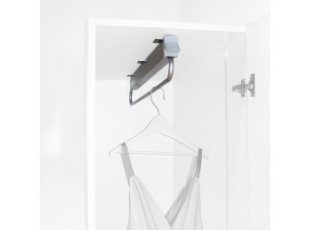 Emuca Colgador extraible para armario, 800 mm, Acero y plástico, Gris metalizado