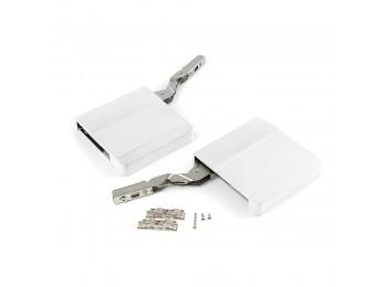 Emuca Compás para puertas elevables, fuerza 580-1250, Acero y plástico, Blanco