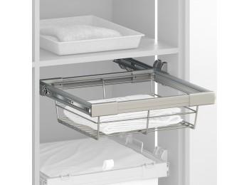 Emuca Kit Cajón metálico y bastidor de guías, regulable, módulo de 800 mm, Acero y aluminio, Gris metalizado.