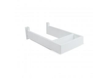 Emuca Salva sifón para cajón de baño, rectangular, Plástico, Blanco