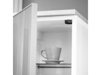 Emuca Interruptor para puerta armario, Plástico, Blanco, 10 ud.