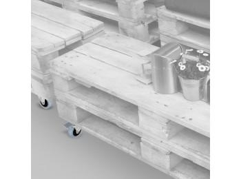 Emuca Ruedas con placa de montaje, D.50 mm, Acero y plástico, Gris, 4 ud.