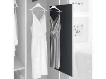 Emuca Espejo extraible para armario, 900 x 400 mm, Aluminio, Vidrio y Acero, Anodizado mate