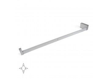 Emuca Barra para armario con luz LED, regulable 858-1.008 mm, batería extraible, sensor de movimiento, Luz Blanca natural, Aluminio, Anodizado mate