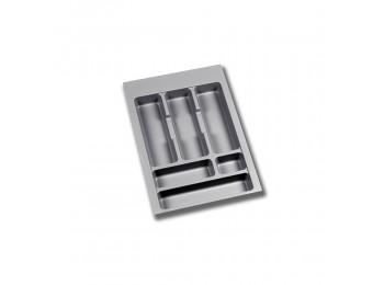 Emuca Cubertero para cajón de cocina, módulo 400 mm, Plástico, Gris