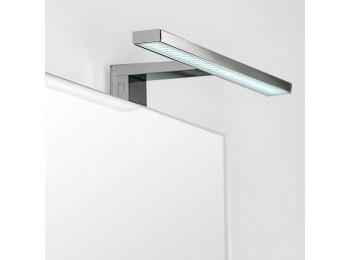 Emuca Aplique LED para espejo de baño, 300 mm, IP44, Luz blanca fría, Aluminio y plástico, Cromado