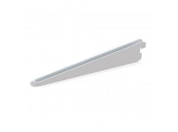 Emuca Soporte para estante de madera/cristal, perfil paso 32 mm, 470 mm, Acero, Blanco