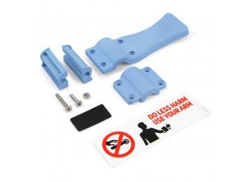 Emuca - Mecanismo abrepuertas sin contacto de antebrazo, plástico, azul.