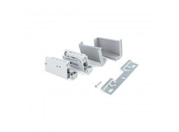 Emuca Colgador para módulos altos de cocina, carga 70 Kg, Acero y plástico, Gris, 2 ud.