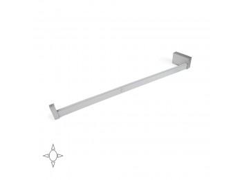 Emuca Barra para armario con luz LED, regulable 708-858 mm, batería extraible, sensor de movimiento, Luz Blanca natural, Aluminio, Anodizado mate