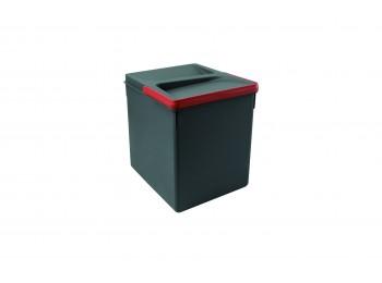Emuca Contenedores para cajón cocina, altura 266 mm, 1x15L, Gris antracita