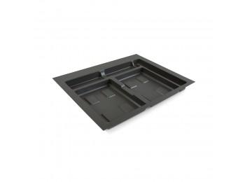 Emuca Base para contenedores cajón cocina, módulo 600 mm, Plástico, Gris antracita