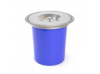 Emuca Cubo de basura empotrable para encimera de cocina, 8 L, acero inoxidable y plástico