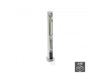 Emuca Nivelador para mueble, regulación lateral, D. 12 mm, altura 76 mm, Acero y zamak, 10 ud.