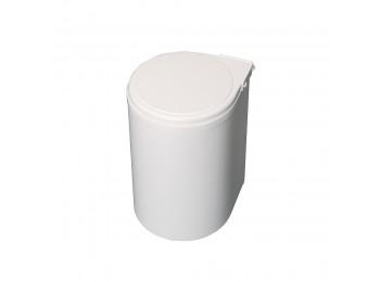 Emuca Contenedor de reciclaje, 13 L, fijación puerta, apertura tapa automatica, Plástico, Blanco