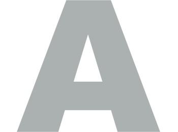 Letra seÑalizacion ´a´ 130mm adh. acero inox aisi 304 inox s