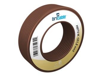Cable elec hilo flexible h07v-k bricable 1x1,5mm marr 10 mt