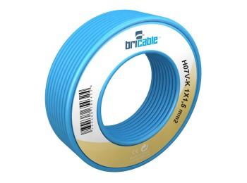 Cable elec hilo flexible h07v-k bricable 1x1,5mm az 25 mt