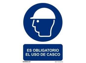 Cartel seÑalizacion 210x300mm pvc obliga uso casco normaluz