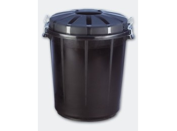 Cubo ind 70 lt denox pp negro con tapa 13260