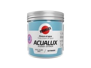 Pintura manualid. al agua 75 ml az/alba satin. acualux titan
