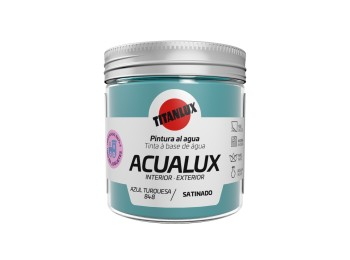 Pintura manualid. al agua 75 ml az/tur satin. acualux titan