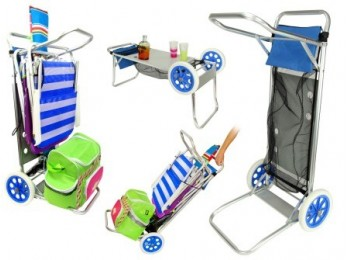 Carro porta sillas 52 x 37 x 105 cm playa juinsa alu 12214