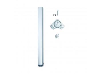 Emuca Pata para mesa, cuadrada, regulable 830-850 mm, Aluminio, Anodizado mate