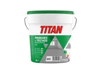 Pintura acril mate int/ext 1 lt bl t3 titan
