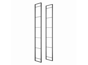 Emuca Estructura para estantería Lader, Altura 1790 mm, Acero, Pintado negro