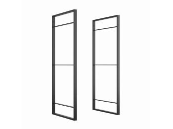 Emuca Estructura para estantería Lader, Altura 830 mm, Acero, Pintado negro