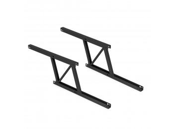 Emuca Juego de 2 mecanismos elevables para mesas de centro, Pintado negro, Acero