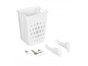 Emuca Cesto de lavandería para módulo de 450 mm, Plástico blanco